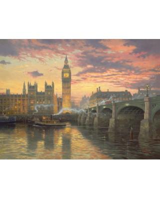 Puzzle Schmidt - Thomas Kinkade: Londra, atmosfera de seara, 1.000 piese (59471)