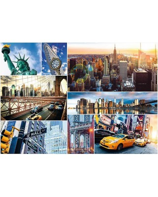 Puzzle Trefl - Collage - New York, 4.000 piese (61532)