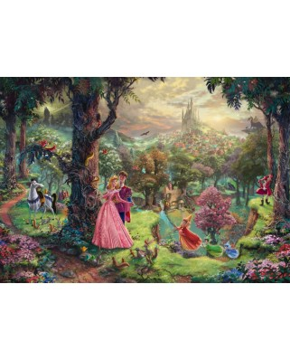 Puzzle Schmidt - Thomas Kinkade: Frumoasa din padurea adormita, 1.000 piese (59474)