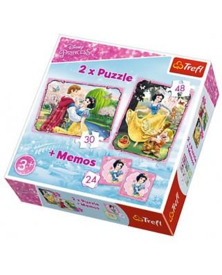 Puzzle Trefl - Disney Princess + Memo, 30/48 piese (61536)