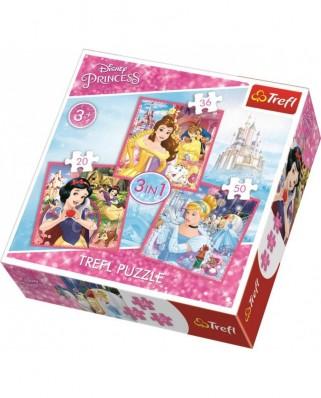 Puzzle Trefl - Disney Princess, 20/36/50 piese (64889)