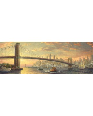 Puzzle panoramic Schmidt - Thomas Kinkade: Podul Brooklyn, New York, 1.000 piese (59476)