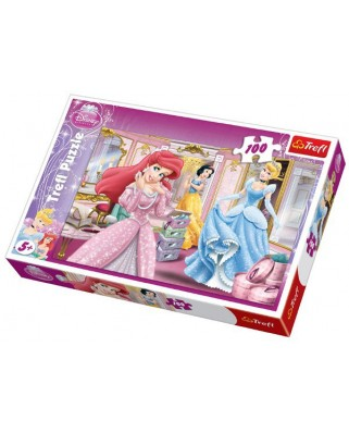 Puzzle Trefl - Disney Princesses : Ready for the Ball, 100 piese (11707)