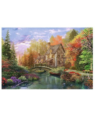 Puzzle Trefl - Dominic Davison: Cottage by the Lake, 1.500 piese (55044)