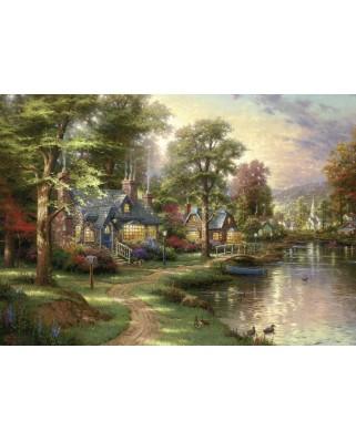 Puzzle Schmidt - Thomas Kinkade: Lacul din orasul natal, 1.500 piese (57452)