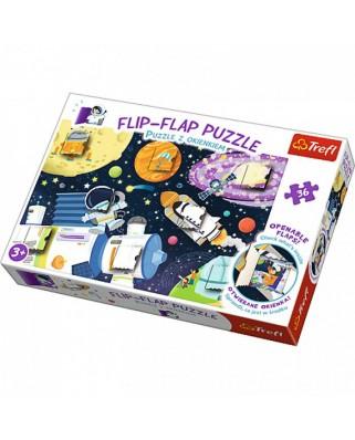 Puzzle Trefl - Flip Flap Puzzle - Space, 36 piese (64773)