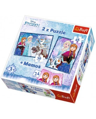 Puzzle Trefl - Frozen + Memo, 30/48 piese (64904)