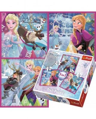 Puzzle Trefl - Frozen, 20/36/50 piese (64888)