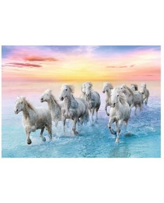 Puzzle Trefl - Galloping White Horses, 500 piese (61529)
