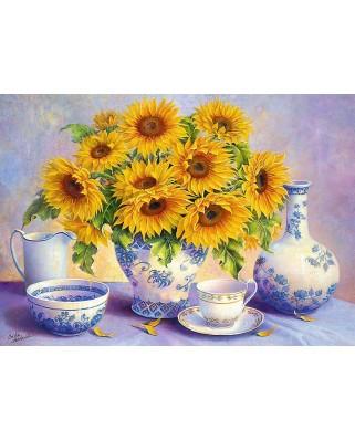 Puzzle Trefl - Hardwick Trisha: Sunflowers, 500 piese (64902)
