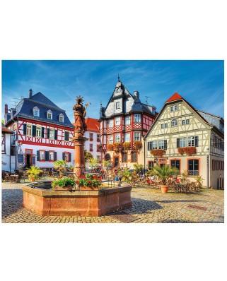 Puzzle Trefl - Market Square, Heppenheim, 3.000 piese (55051)