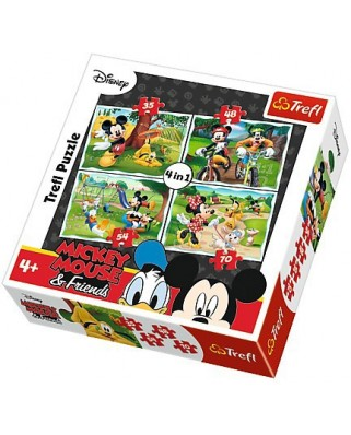 Puzzle Trefl - Mickey Mouse & Friends, 35/48/54/70 piese (55026)