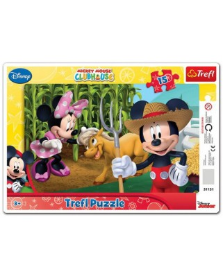 Puzzle Trefl - Mickey Mouse, 15 piese (40454)