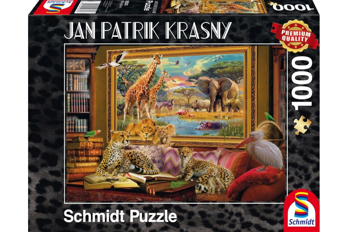 Puzzle Schmidt - Jan Patrik Krasny: Animalele din savana prind viata, 1.000 piese (59335)