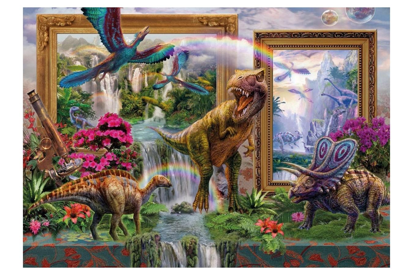 Puzzle Schmidt - Jan Patrik Krasny: Dinozaurii prind viata, 1.000 piese (59336)