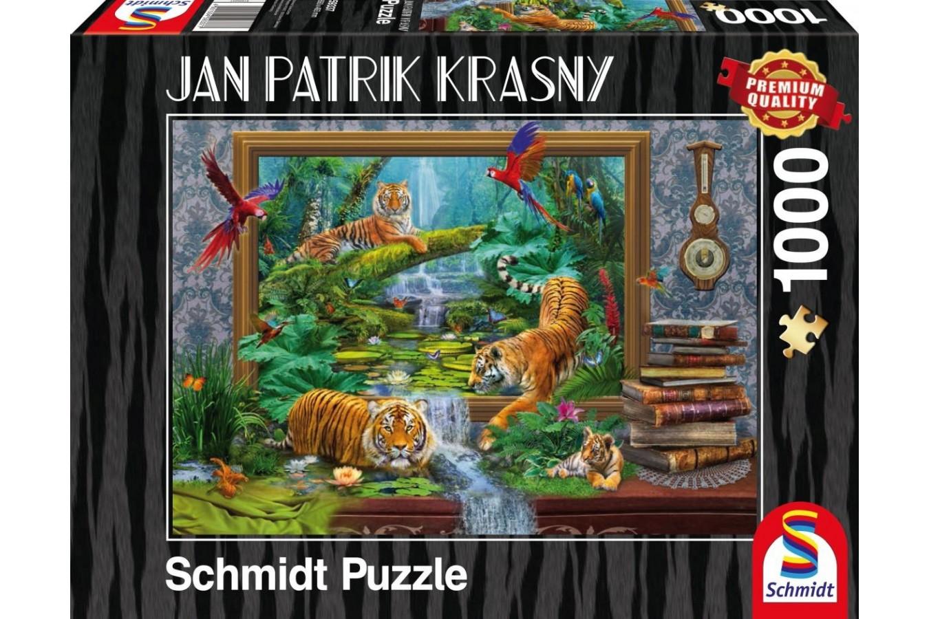 Puzzle Schmidt - Jan Patrik Krasny: Tigrii prind viata, 1.000 piese (59337)