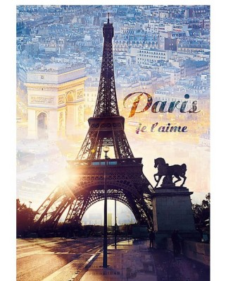 Puzzle Trefl - Paris, I love you, 1.000 piese (51279)