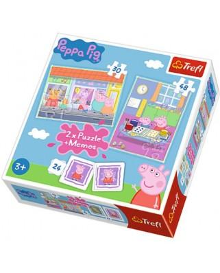Puzzle Trefl - Peppa Pig + Memo, 30/48 piese (61533)