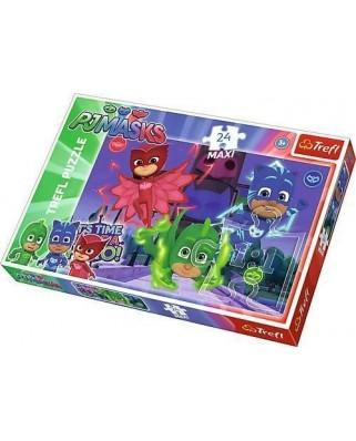 Puzzle Trefl - PJ Masks, 24 piese XXL (64828)