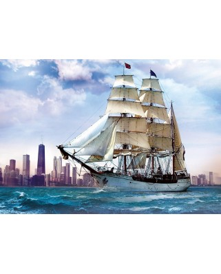 Puzzle Trefl - Sailing near Chicago, 500 piese (6463)