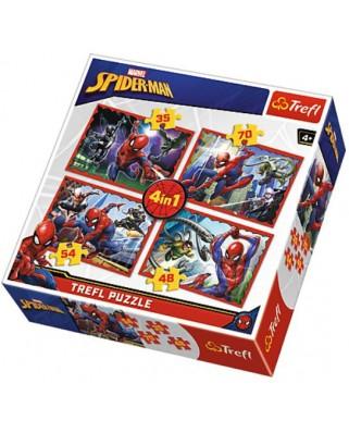 Puzzle Trefl - Spiderman, 35/48/54/70 piese (64879)