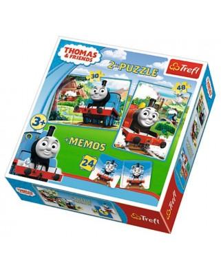 Puzzle Trefl - Thomas & Friends + Memo, 30/48 piese (61535)