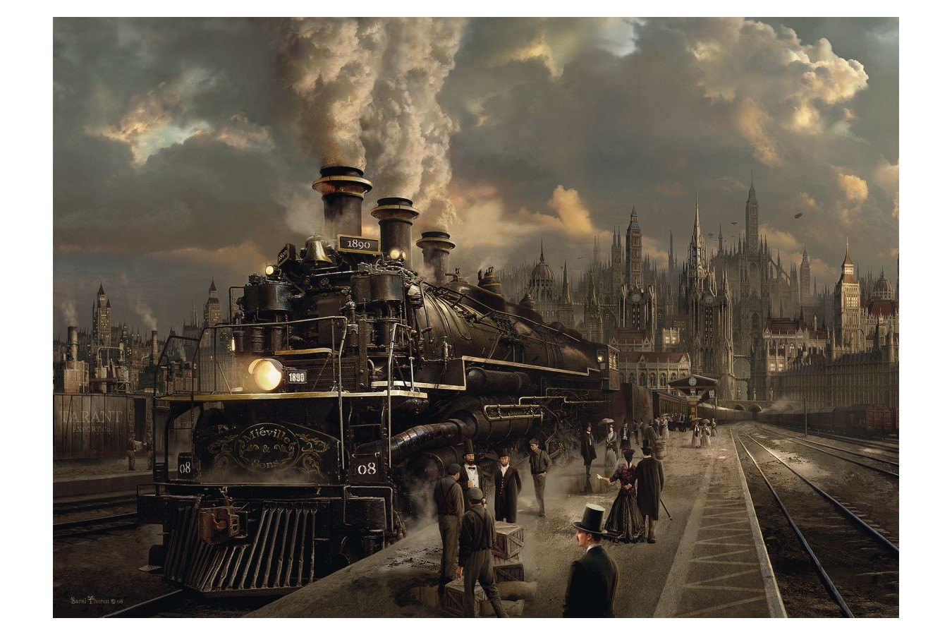 Puzzle Schmidt - Locomotiva, 1.000 piese (58206)