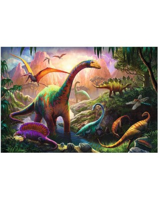 Puzzle Trefl - World of Dinosaurs, 100 piese (52095)