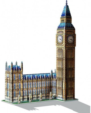 Puzzle 3D Wrebbit - Big Ben and House of Parliament, 890 piese (12725)