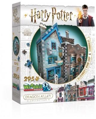 Puzzle 3D Wrebbit - Harry Potter - Ollivander's Wand Shop & Scribbulus, 295 piese (65555)