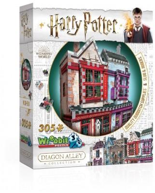 Puzzle 3D Wrebbit - Harry Potter - Quality Quidditch Supplies and Slug & Jiggers, 305 piese (65556)