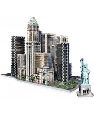 Puzzle 3D Wrebbit - New York Collection: Financial, 925 piese (52541)