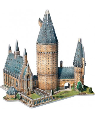 Puzzle 3D Wrebbit - PoudlardTM - Great Hall, 850 piese (52542)