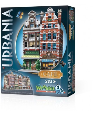 Puzzle 3D Wrebbit - Urbania Collection - Cafe, 285 piese (61361)