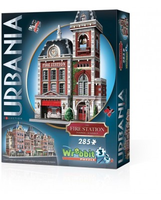 Puzzle 3D Wrebbit - Urbania Collection - Fire Station, 285 piese (65554)