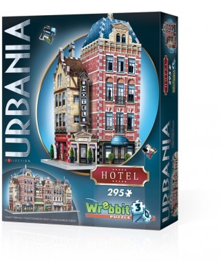 Puzzle 3D Wrebbit - Urbania Collection - Hotel, 295 piese (61360)