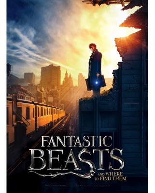 Puzzle Wrebbit - Poster Fantastic Beasts - New York, 500 piese (57050)