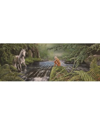 Puzzle panoramic PuzzelMan - Nico Bulder: The Unicorn, 1.000 piese (43250)