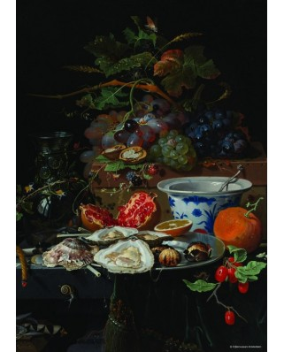 Puzzle PuzzelMan - Abraham Mignon: Collection Rijksmuseum Amsterdam - The Oysters, 1.000 piese (43150)