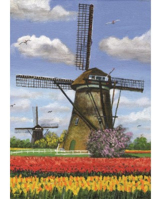 Puzzle PuzzelMan - Dirk Graas: 2 Mills, 99 piese (43337)