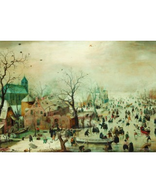 Puzzle PuzzelMan - Hendrick Avercamp: Collection Rijksmuseum Amsterdam - Winter, 210 piese mini (43155)