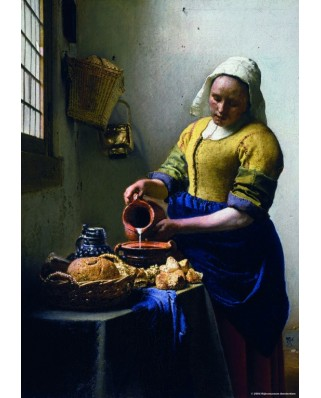 Puzzle PuzzelMan - Johannes Vermeer: Collection Rijksmuseum Amsterdam - The Milkmaid, 210 piese mini (43179)
