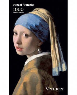 Puzzle PuzzelMan - Johannes Vermeer: Girl with the Pearl, 1.000 piese (50540)