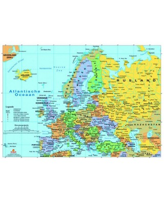 Puzzle PuzzelMan - Map of Europe, 1.000 piese (2020)