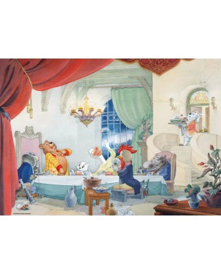 Puzzle PuzzelMan - Marten Toonder: A table, 1000 piese (43197)