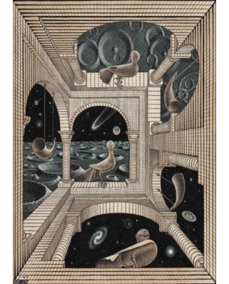 Puzzle PuzzelMan - Maurits Cornelis Escher: Different World, 1.000 piese (61588)