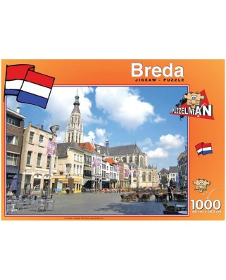 Puzzle PuzzelMan - Netherlands, Breda: Church of Our Lady, 1.000 piese (43187)