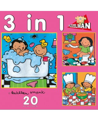 Puzzle PuzzelMan - Noa: 3 puzzles in 1, 20 piese XXL (43352)