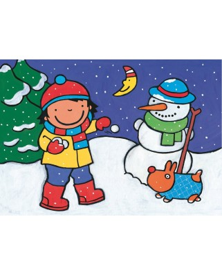 Puzzle PuzzelMan - Noa: At the snow, 16 piese XXL (43368)