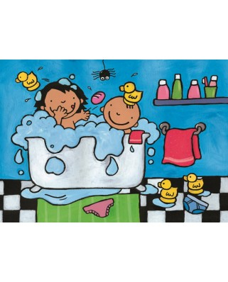 Puzzle PuzzelMan - Noa: In the bathroom, 16 piese XXL (43365)